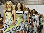 Mandatory Credit: Photo by Ray Tang/REX Shutterstock (5119756c)  Models on the catwalk  'Issa' show, Spring Summer 2016, London Fashion Week, Britain - 20 Sep 2015