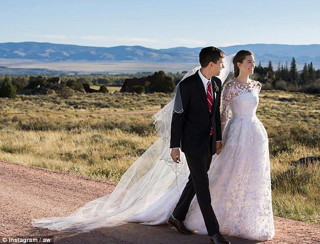 Just married! Allison Williams, 27, and Ricky Van Veen, 34, tied the knot in Wyoming on Saturday afternoon
