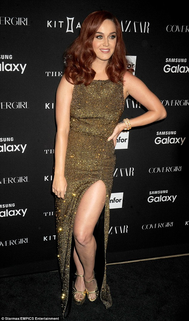 Stellar line up: Katy Perry was also on the invite list - she is pictured here at the Harper's Bazaar Icons event in New York