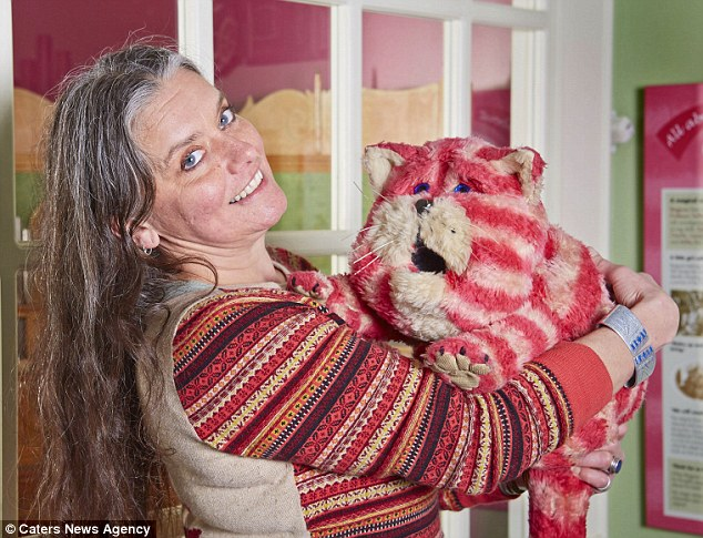 Reunited: Emily Firmin, who starred as the owner of Bagpuss in the hit TV programme, has been reunited with the famous cat at the Canterbury Heritage Museum to celebrate the show's 40th birthday