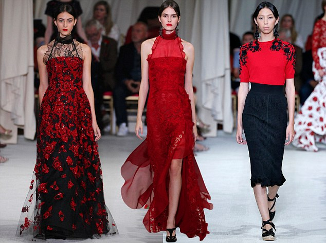 Renta the runway: Designer Peter Copping said for Oscar de la Renta's show he drew inspiration at the Hispanic Society of America in Harlem, where he viewed paintings and textiles that he knew de la Renta, who died in October 2014, would have loved