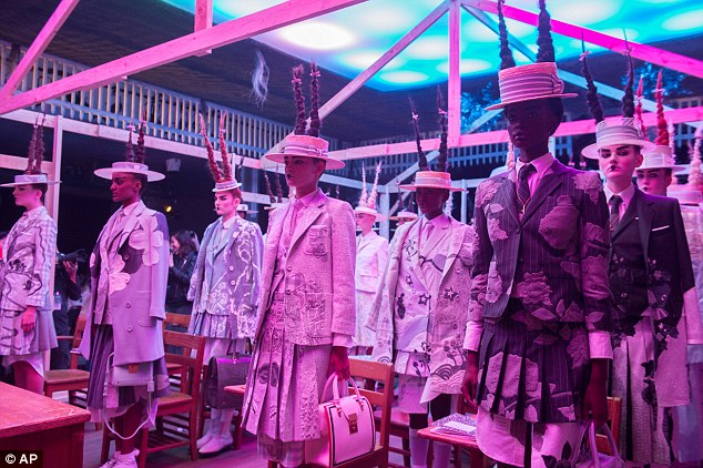 See me after school: At Thom Browne's runway show, the designer took the simple image of a Japanese schoolgirl's uniform and transformed it into a strange but enticing world — as pretty much only he can do