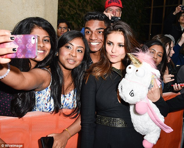 Picture me: Nina was happy to pose with fans