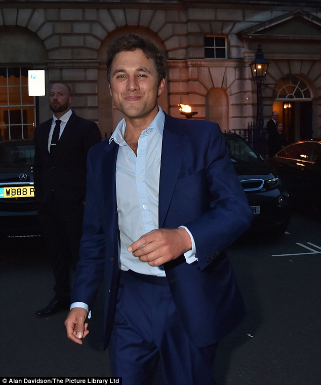 The godfather! Thomas van Straubenzee, an old friend of Prince William's and godfather to Princess Charlotte