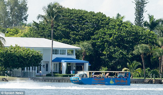 Boats, including tour boats filled with people, were just yards from Rosie's home on the Intracoastal Waterway