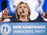 Mandatory Credit: Photo by Ryan McBride/REX Shutterstock (5112719a)  Presidential hopeful Hillary Clinton speaks with supporters during the 2015 NHDP State Convention Saturday in Manchester, New Hampshire  NHDP State Convention, New Hampshire, America - 19 Sep 2015