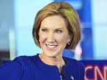 Mandatory Credit: Photo by Hans Gutknecht/REX Shutterstock (5088161t)  Carly Fiorina takes the stage with GOP candidates for the second GOP Presidential Debate at the Ronald Reagan Library  GOP Presidential Debate, Simi Valley, California, America - 16 Sep 2015
