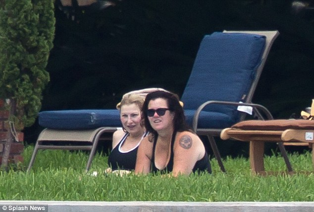 The couple took a moment to watch the active scenery on the Intracoastal Waterway, which backs up into Rosie's property