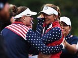 ST LEON-ROT, GERMANY - SEPTEMBER 20:  Alison Lee of team USA cries shortly afterwards she was told that her short putt on the 17th hole had not been conceeded and thus loosing the hole to Europe during the continuation of the darkness delayed afternoon fourball matches at The Solheim Cup at St Leon-Rot Golf Club on September 20, 2015 in St Leon-Rot, Germany.  (Photo by Stuart Franklin/Getty Images)