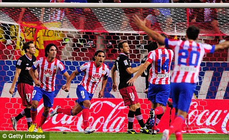 Solid start: Atletico have taken four points from their first two matches in the La Liga season