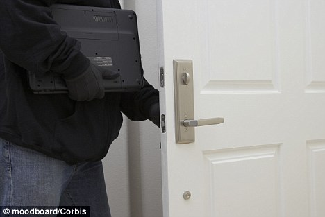 Opportunistic: Barker, 21, stole a second laptop from Mr Mathely's home after being invited in to apologise for the first offence (stock picture)