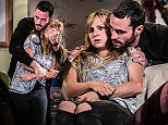 Embargoed to 0001 Sunday September 20\nUndated handout photo issued by ITV of of Sean Ward as Callum Logan and Tina O'Brien as Sarah-Louise Platt rehearsing thrilling fight scenes which will be aired in the first part of the Coronation Street Live episode on Wednesday September 23. PRESS ASSOCIATION Photo. Issue date: Sunday September 20, 2015. New pictures released of Sean Ward and Tina O'Brien in rehearsal offer a sneak peek into the opening scenes for the soap's highly anticipated live episode, celebrating 60 years of ITV. See PA story SHOWBIZ Corrie. Photo credit should read: Joseph Scanlon/ITV/PA Wire\nNOTE TO EDITORS: This handout photo may only be used in for editorial reporting purposes for the contemporaneous illustration of events, things or the people in the image or facts mentioned in the caption. Reuse of the picture may require further permission from the copyright holder.