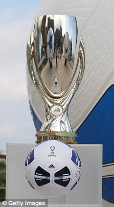 Eyes on the Prize: Chelsea and Atletico Madrid will play for the Super Cup trophy on Friday night