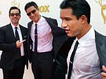Mario Lopez sweats
