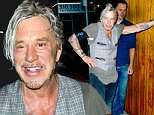 September 19, 2015: Mickey Rourke parties with friends at nightclub Nice Guy in Los Angeles, CA.  \nMandatory Credit: INFphoto.com Ref: infusla-309
