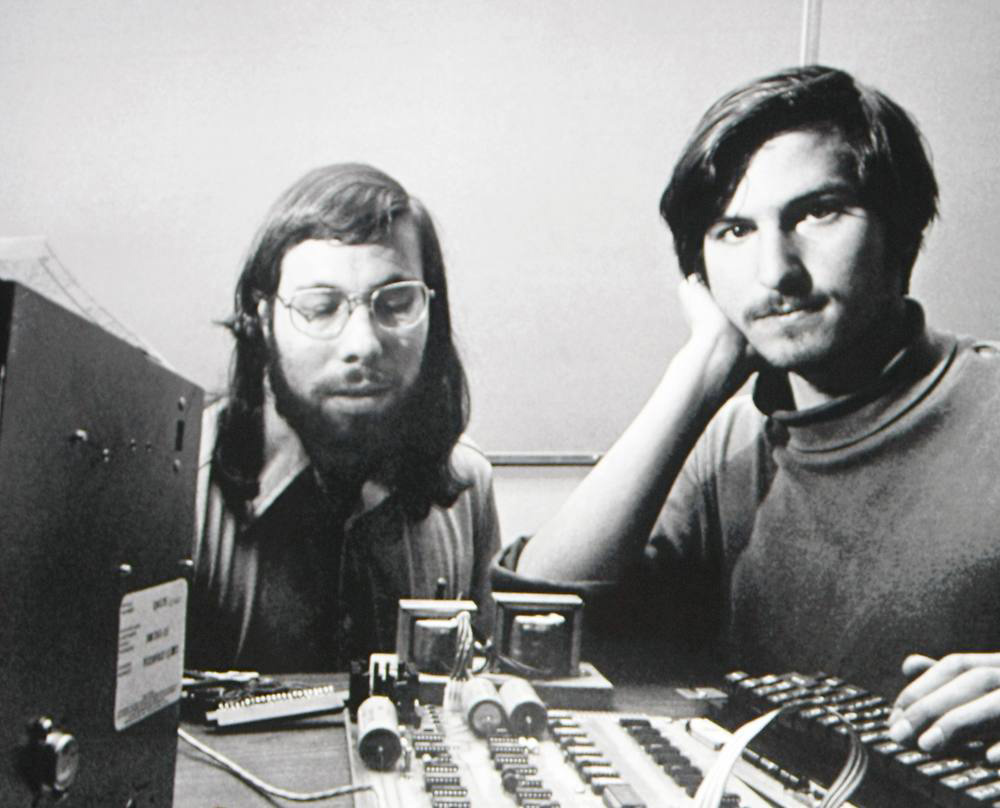 Steve Jobs and Steve Wozniak at Apple