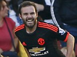"""Football - Southampton v Manchester United - Barclays Premier League - St Mary's Stadium - 20/9/15  Juan Mata celebrates scoring the third goal for Manchester United  Reuters / Stefan Wermuth  Livepic  EDITORIAL USE ONLY. No use with unauthorized audio, video, data, fixture lists, club/league logos or """"live"""" services. Online in-match use limited to 45 images, no video emulation. No use in betting, games or single club/league/player publications.  Please contact your account representative for further details."""
