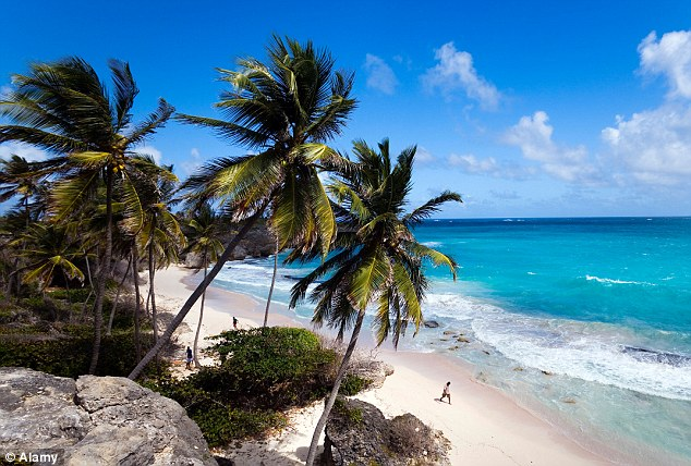 Idyllic: The sun-kissed Caribbean island of Barbados where the EU has set up a headquarters to hand out money for projects