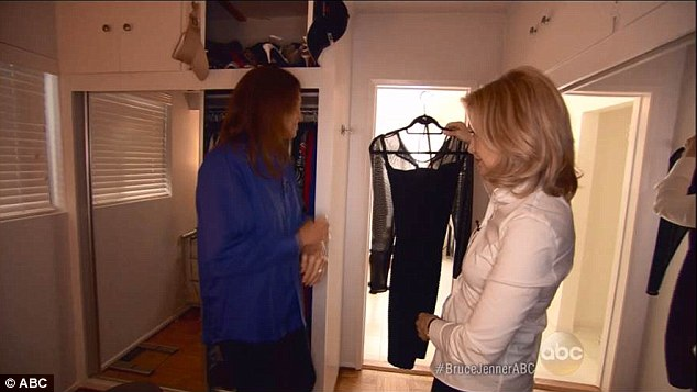 Dressing up:Though Bruce admitted during his interview with Diane Sawyer (pictured) that he often wears dresses, many people felt that mocking up a photo of him wearing one was insulting