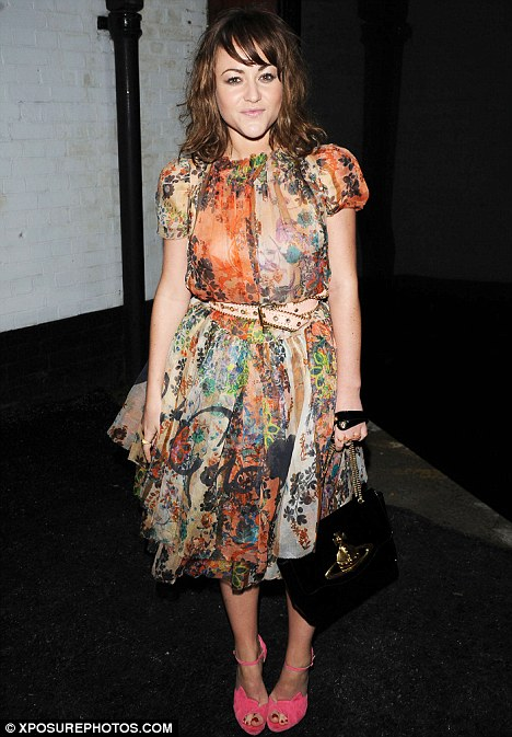 Supportive: Jaime Winstone turned up to support her house mate Daisy