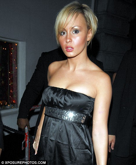 Before: A flatter-chested Chanelle not long after she'd appeared on Big Brother in 2007