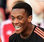 SOUTHAMPTON, ENGLAND - SEPTEMBER 20:  Anthony Martial of Manchester United (9) celebrates with Memphis Depay as he scores his and his team's second goal during the Barclays Premier League match between Southampton and Manchester United at St Mary's Stadium on September 20, 2015 in Southampton, United Kingdom.  (Photo by Alex Broadway/Getty Images)