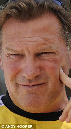 On-air blunder: Glenn Hoddle joked that a mistake by Fernando Torres was 'like that Chinese player Knee Shin Toe'