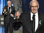 Jeffrey Tambor accepts the award for outstanding lead actor in a comedy series for ìTransparentî at the 67th Primetime Emmy Awards on Sunday, Sept. 20, 2015, at the Microsoft Theater in Los Angeles. (Photo by Chris Pizzello/Invision/AP)