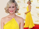 Mandatory Credit: Photo by REX Shutterstock (5122586gt)\n Taylor Schilling\n 67th Primetime Emmy Awards, Arrivals, Los Angeles, America - 20 Sep 2015\n \n