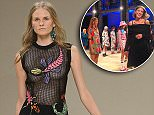 Mandatory Credit: Photo by Jonathan Hordle/REX Shutterstock (5113443v)\n Model on the Catwalk\n House of Holland show, Spring Summer 2016, London Fashion Week, Britain - 19 Sep 2015\n \n