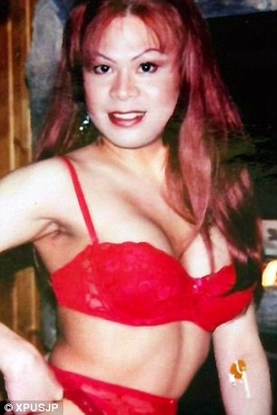Changing look: Katella was born a man but opted to undergo gender reassignment surgery at the age of 23. She is pictured during her twenties