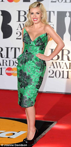 Party girls: Tess Daly looked a vision in her lavender dress and Katherine Jenkins wore Brit favourite Vivienne Westwood