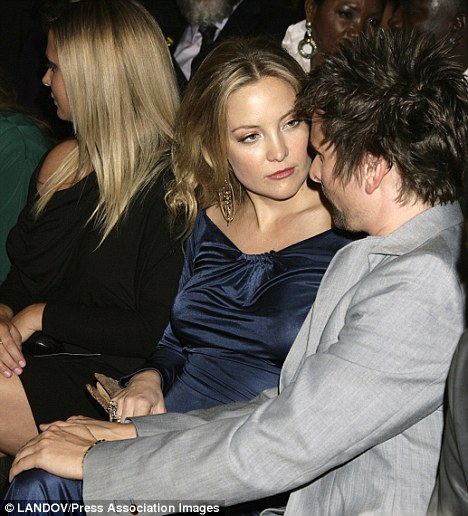 Loving girfriend: Kate was there to support her boyfriend and the pair put on a loving display at the event
