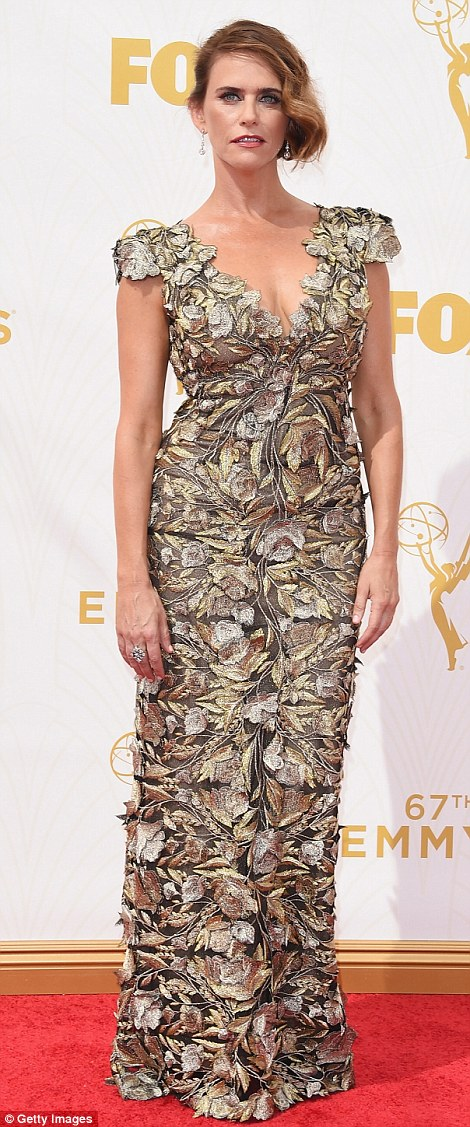 Romantic: Veep beauty Anna Chlumsky and Transparent actress Amy Landecker were stunning in floral gowns