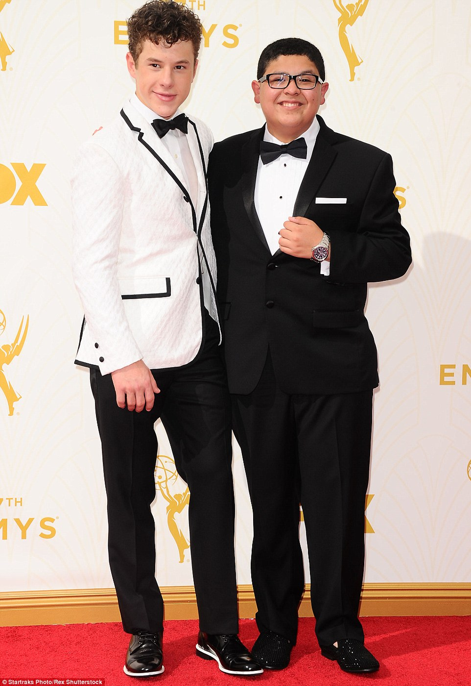 Modern Family stars Rico Rodriguez and Nolan Gould looked sharp in their smart suits