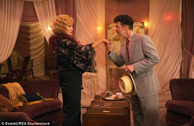 Her comeback: Lange with Denis O'Hare on American Horror Story: Freak Show