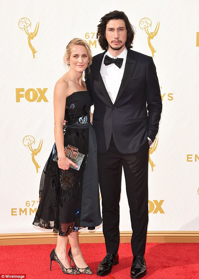 Out of this world! Star Wars actor Adam Driver and his wife Joanne Tucker attended the 67th Emmy Awards in downtown Los Angeles on Sunday