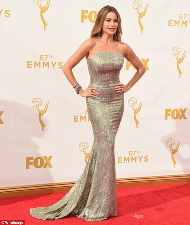 No gold for her: Sofia Vergara showed up to support her TV series, but they did not win