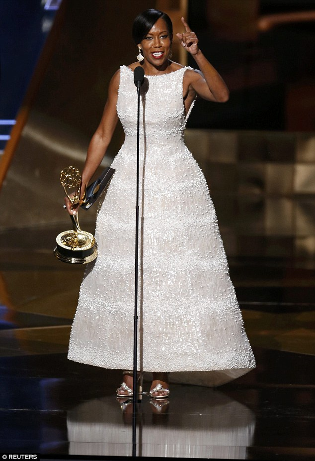 Winner: Regina Kingaccepted the award for Outstanding Supporting Actress in a Limited Series or Movie for her role on the ABC series American Crime during the 67th Primetime Emmy Awards in Los Angeles Sunday