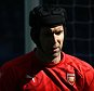 Petr Cech of Arsenal  during the Barclays Premier League match Chelsea and Arsenal  played at Stamford Bridge, London