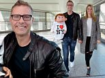 Paul Zerdin, a British Ventriloquist who has just won 'America's Got Talent' arrives at Heathrow from New York accompanied by his puppet Sam, he was met at Heathrow by his partner actress\nRobin Mellor. picture David Dyson