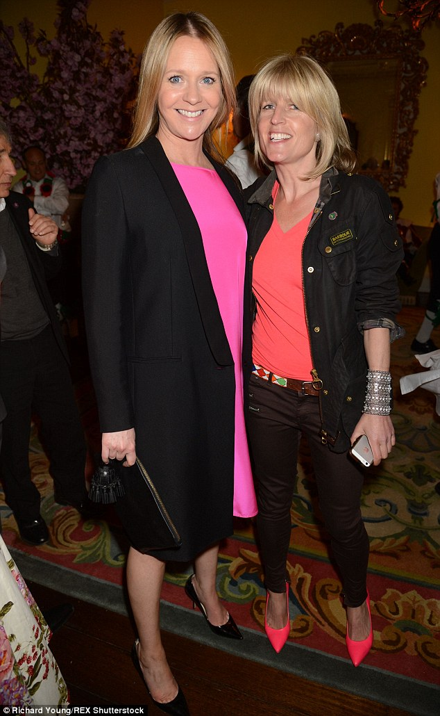 Kate Reardon, left, is the editor of the magazine, which was established in 1709 to cover high-society balls, shooting parties, fashion and gossip. She was joined by Boris' sister Rachel Johnson