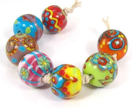 Carnivale Round Lampwork Bead Set