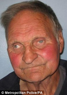 Discovered: James Allen, 78, was caught with an armoury at his scrapyard business in Clapham, south west London
