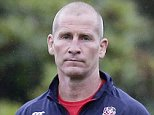 Rugby Union - England Training - Pennyhill Park, Bagshot, Surrey - 21/9/15  England head coach Stuart Lancaster (L) during training  Action Images via Reuters / Henry Browne  Livepic  EDITORIAL USE ONLY.