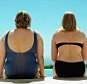 Big and curvaceous women at swimming pool
