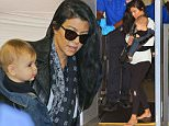 Please contact X17 before any use of these exclusive photos - x17@x17agency.com   Kourtney Kardashian leaving LA amid growing scott Disick split drama. the stress...sed single mom is leaving town suddenly and unexpectedly to a secret retreat with son Reign . Kourtney appears upset at security when asked to take off her shoes/X17online.com