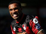 "AFC Bournemouth's Callum Wilson celebrates scoring his side's first goal of the game during the Barclays Premier League match at the Vitality Stadium, Bournemouth. PRESS ASSOCIATION Photo. Picture date: Saturday September 19, 2015. See PA story SOCCER Bournemouth. Photo credit should read: Steve Paston/PA Wire. RESTRICTIONS: EDITORIAL USE ONLY No use with unauthorised audio, video, data, fixture lists, club/league logos or ""live"" services. Online in-match use limited to 45 images, no video emulation. No use in betting, games or single club/league/player publications."