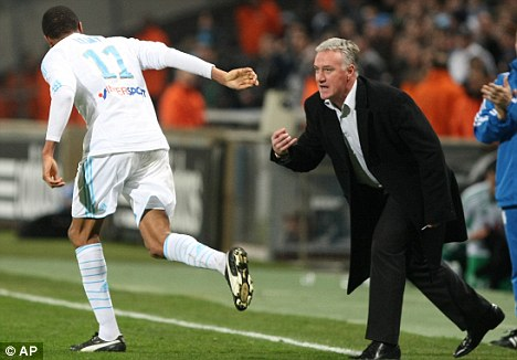 Staying put: Marseille boss Didier Deschamps rejected an offer from Liverpool last summer