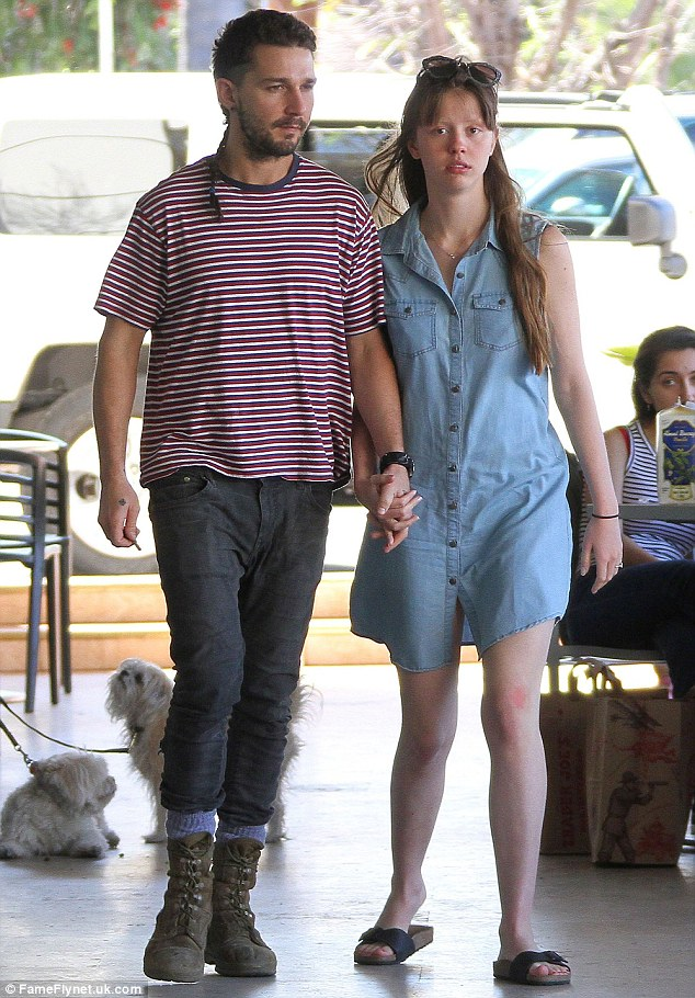 Transitional period: Offscreen, the SAG Award nominee split with his Nymphomaniac co-star Mia Goth around July 24 following a two-year romance (pictured March 7)